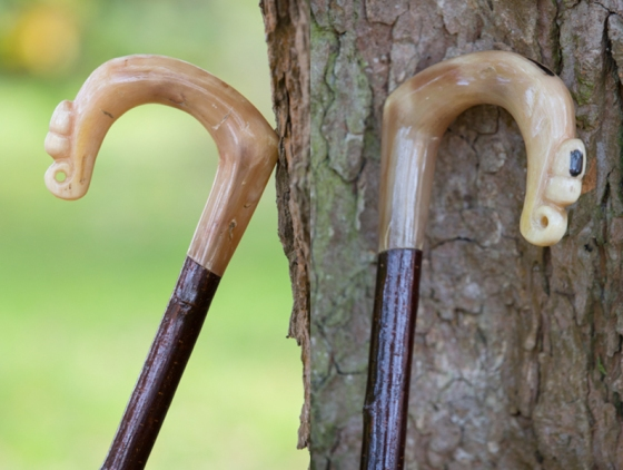Rams Horn Crook with Acorn