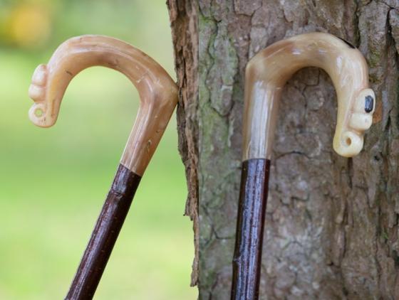 Rams Horn Crook with Acorn