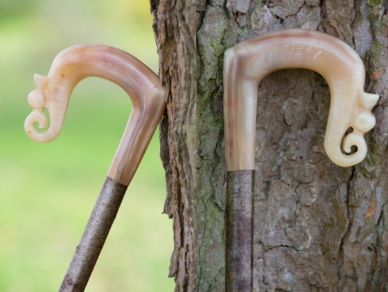 Rams Horn Crook with Thistle